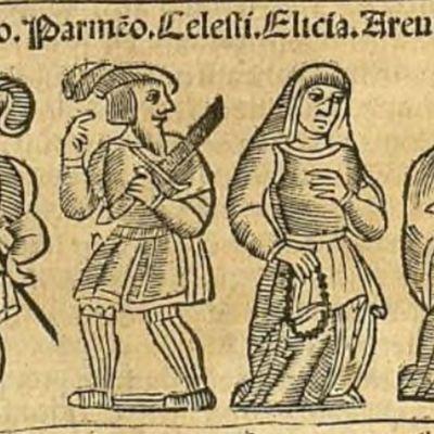 Ilustración del acto IX de la edición de Zaragoza, 1545
