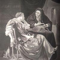 El billete amoroso o la adivina, grabado basado en Frans van Mieris (1635-1681).
