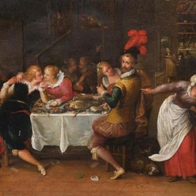 El hijo pródigo, atribuido a un seguidor de Frans Francken (Fecha desconocida)