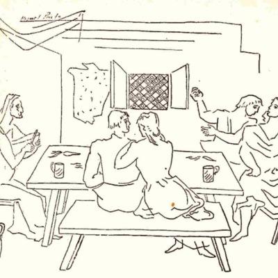 Ilustración primera del acto IX de la edición de México (1947)