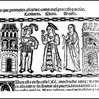 Grabado del acto XVIII de la edición de Valencia (1514)