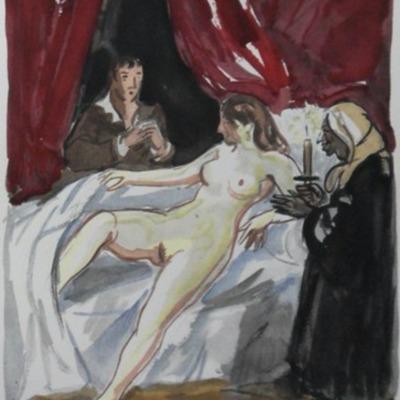Ilustración del acto VII de la edición de París (1976)