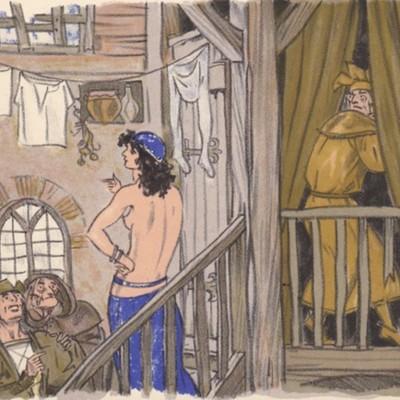 Ilustración tercera del acto I de la edición de París (1949)