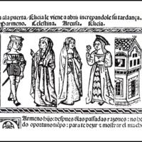 Grabado del acto VII de la edición de Valencia (1514)