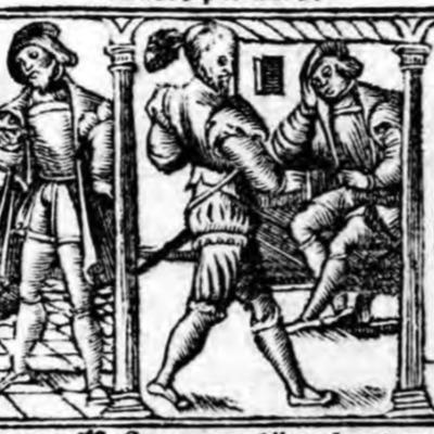 Ilustración del acto I de la edición de Zaragoza (1545)