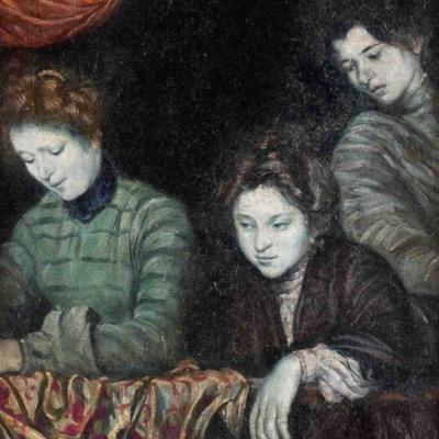 Tres mujeres en un balcón, de Bernard (1903)