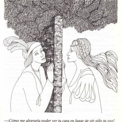 Ilustración primera del acto XII de la página 73 de la edición Barcelona, 1988.