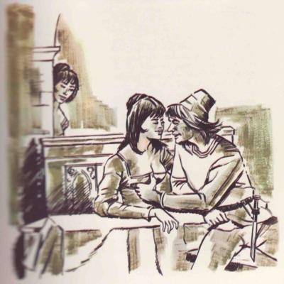 Ilustración tercera del acto XVII de la edición de Barcelona (1968)