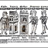 Grabado (primero) del acto XII de la edición de Valencia (1514)