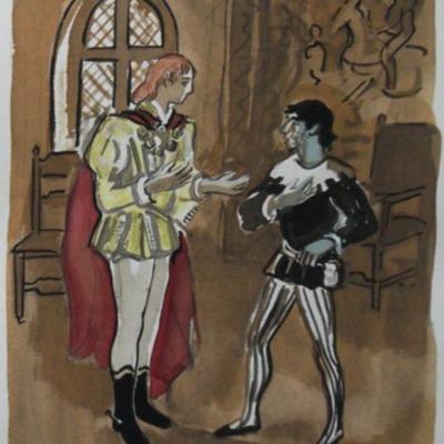 Ilustración segunda del acto I de la edición de París (1976)