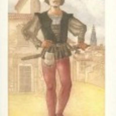 Ilustración de Sempronio de la edición Barcelona, 2000.