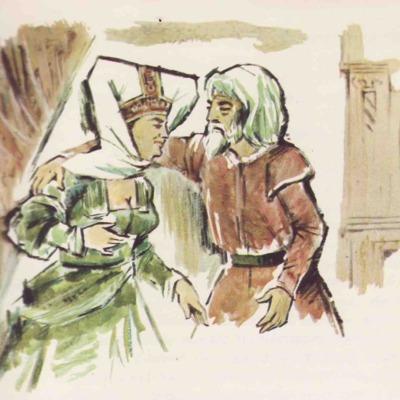 Ilustración primera del acto XVI de la edición de Barcelona (1968)
