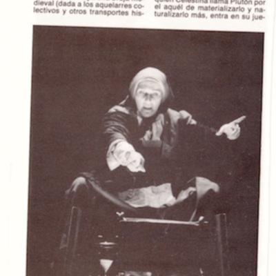 Representación de la Compañía Nacional de Teatro Clásico, Madrid, 1988