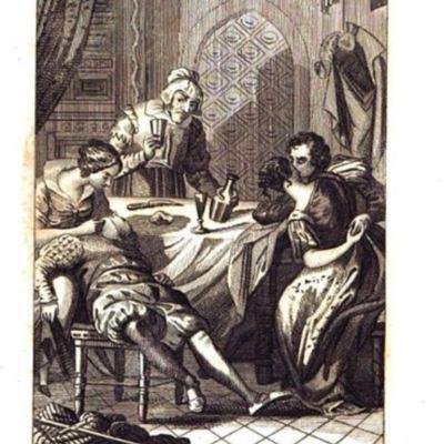Ilustración del acto IX de la edición de Gorchs, Barcelona, 1841, pg. 178.