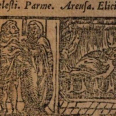 Imagen del acto VII de la edición de Salamanca (1590)