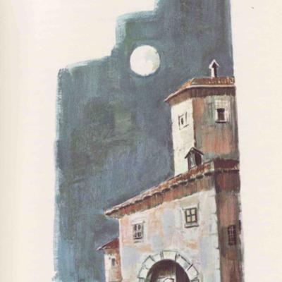 Ilustración primera del acto IV de la edición de Barcelona (1968)