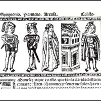 Grabado del acto VIII de la edición de Valencia (1514)