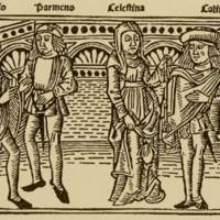 Grabado del acto VI de la edición de Burgos (1499)