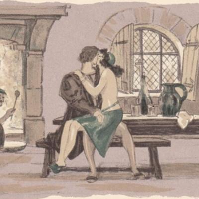 Ilustración sexta del acto I de la edición de París (1949)