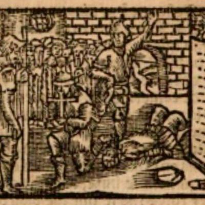 Ilustración segunda del acto XIII de la edición de Estella (1557)