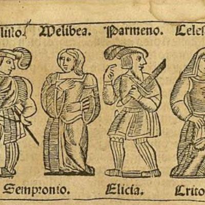 Ilustración del acto I de la edición de Zaragoza, 1545