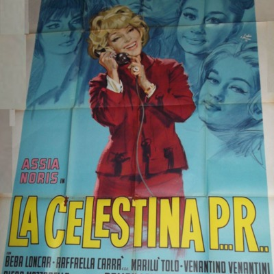 Cartel anunciador 2 de la película La Celestina P...R...de Lizzani.