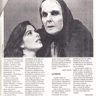 Representación del Teatro San Martín, Buenos Aires, 1994