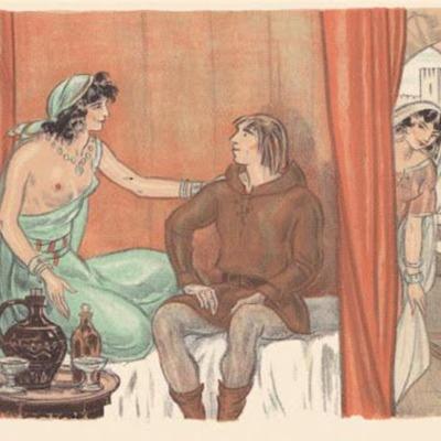 Ilustración primera del acto XVII de la edición de París (1949)