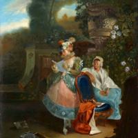 La carta, de Paret y Alcázar (1772)