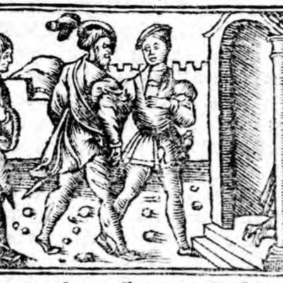 Ilustración del acto XI de la edición de Zaragoza (1545)