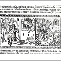 Grabado (segundo) del acto XII de la edición de Valencia (1514)