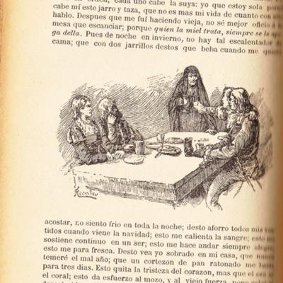 Ilustración primera del acto IX de la edición de Barcelona (1883)