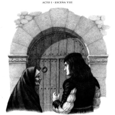 Ilustración octava del acto I de la edición de Barcelona (1996)