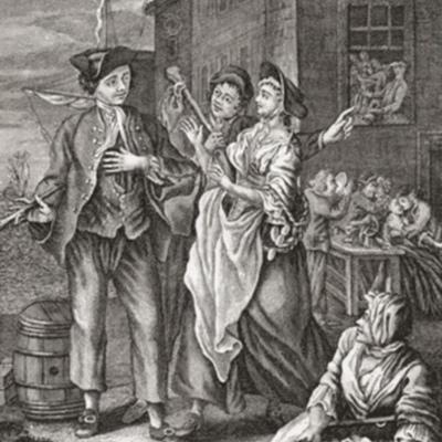 El retorno del marinero o las proposiciones de las prostitutas a un marinero de regreso en na ciudad portuaria, de anónimo (Siglo XVIII)