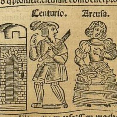 Ilustración del acto XVIII de la edición de Zaragoza, 1545