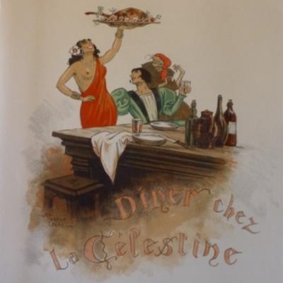 Ilustración de la cena de Celestina de la edición de París (1949)