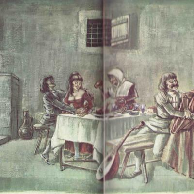 Ilustración segunda del acto IX de la edición de Barcelona (1968)