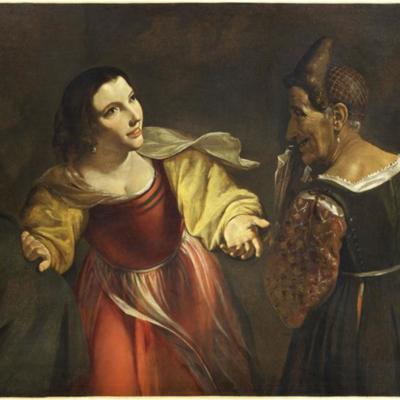 La alcahueta o La vieja y el joven galán, de Paolini (1681)