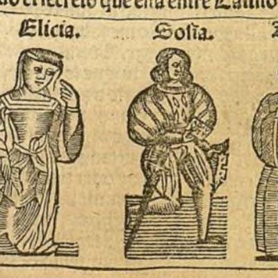 Ilustración del acto XVII de la edición de Zaragoza, 1545