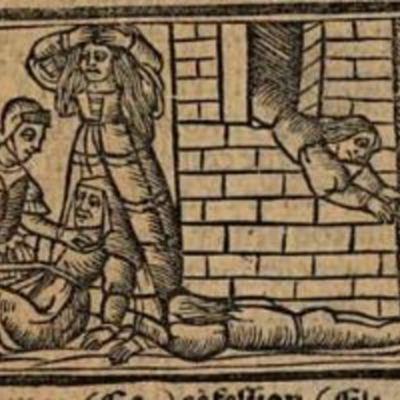 Grabado segundo del acto XII de la edición de Venecia (1534)