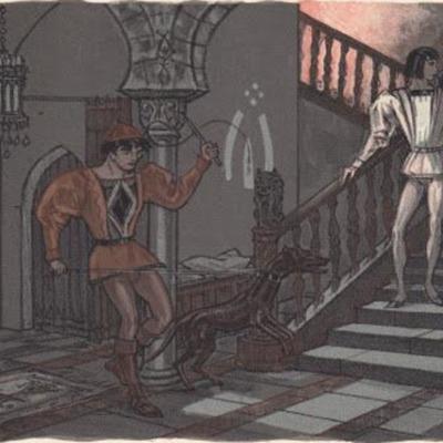 Ilustración primera del acto VI de la edición de París (1949)