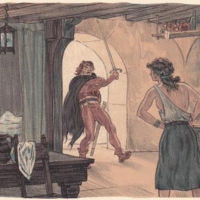 Ilustración primera del acto XV de la edición de París (1949)