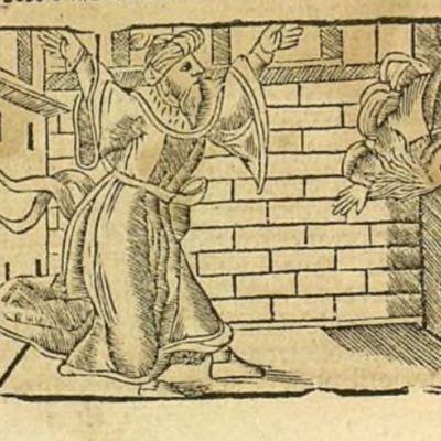 Segunda ilustración del acto XX de la edición de Zaragoza, 1545