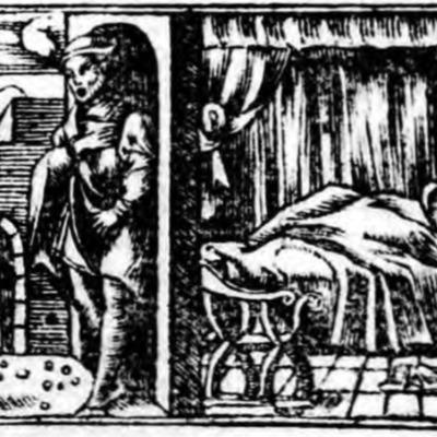 Ilustración primera del acto XIII de la edición de Zaragoza (1545)