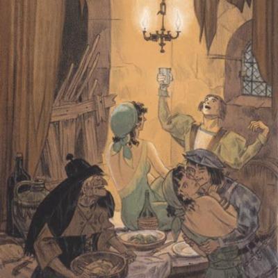 Ilustración segunda del acto IX de la edición de París (1949)