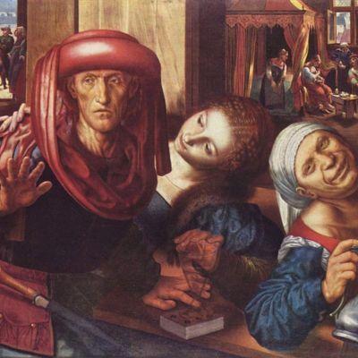 Escena de burdel, de Hemessen (1545)