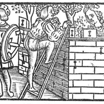 Ilustración segunda del acto XIV de la edición de Toledo (1538)