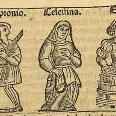 Ilustración del acto III de la edición de Zaragoza, 1545