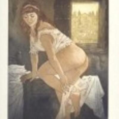 Ilustración de Lucrecia de la edición Barcelona, 2000.