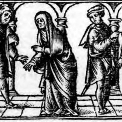 Ilustración del acto VI de la edición de Zaragoza (1545)